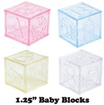 "1 1/4"" Mini Plastic Baby Block"