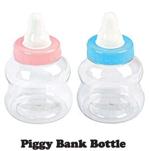 8 1 2 small plastic milk bottle coin bank for Plastic bottle coin bank