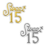 Mini Plastic Sweet 15 Sign