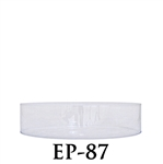 "PVC Round Container - 7 1/4""D x 2""H"