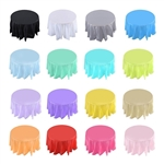 "84"" Plastic Table Cover - Round"