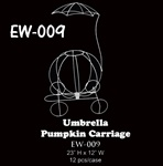 "23""H Wire Pumpkin Carriage with Umbrella"
