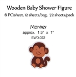 Monkey Wooden Figure