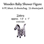 Zebra Wooden Figure
