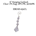 "6"" Hanging Tree Shape Garland, Clear"