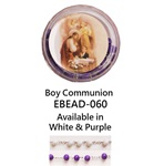 "20"" Scented Wood Rosary with Box - Boy Communion"