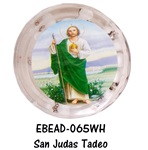 "20"" Scented Wood Rosary with Box - San Judas Tadeo - White"
