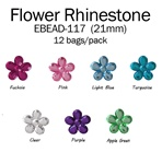 21mm Flower Rhinestone