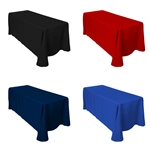 "Polyester Table Cover, 90X156"" -Colors"