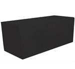 6 Feet Rectangular Fitted Table Cover Black