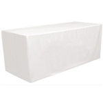 6 Feet Rectangular Fitted Table Cover White