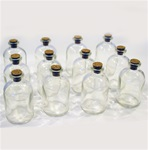"2 3/4"" Glass Bottle with Cork"