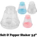 "1 1/2"" Mini Plastic Salt & Pepper Shaker"