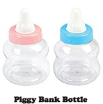 "8 1/2"" Small Plastic Milk Bottle Coin Bank"