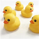 "2 1/4"" x 2"" x 2"" Medium Yellow Plastic Duck"