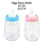 "10 1/2"" Plastic Milk Bottle Coin Bank"