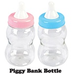 "13 1/2"" Jumbo Plastic Milk Bottle Coin Bank"