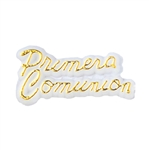 Mini Plastic Primera Comunion Sign