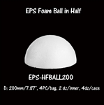 EPS Half Foam Ball -7.87""