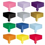 "54x108"" Plastic Table Cover - Rectangle"