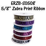 "5/8"" Satin Zebra Ribbon"
