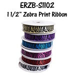 "1 1/2"" Satin Zebra Ribbon"