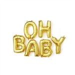 "16"" FOIL BALLOON  SET- OH BABY"