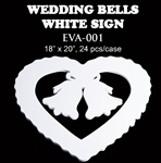 EVA Sign - Double Bell/Heart - White