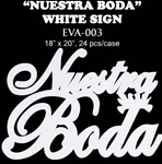 EVA Sign - Nuestra Boda/Dove - White