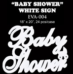 EVA Sign - Baby Shower- White