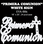 EVA Sign - Primera Communion - White