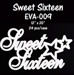 EVA Sign - Sweet 16- White
