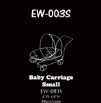 "6""H Wire Baby Carriage"