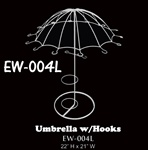 "22""H Wire Umbrella with Hooks & Wine Holder"