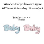 Baby Sign Wooden Figure