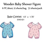 Baby Clothes Wooden Figure